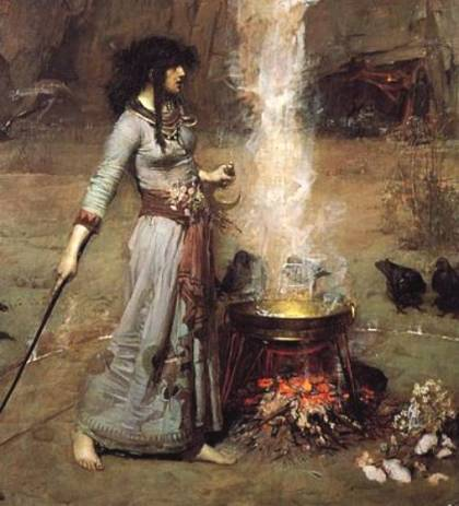 witch_john_william_waterhouse_magic_circle_painting_casting_spells