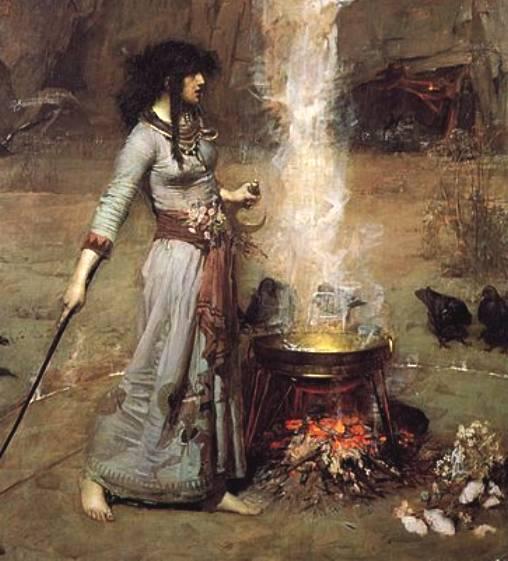 witch_john_william_waterhouse_magic_circle_painting_casting_spells